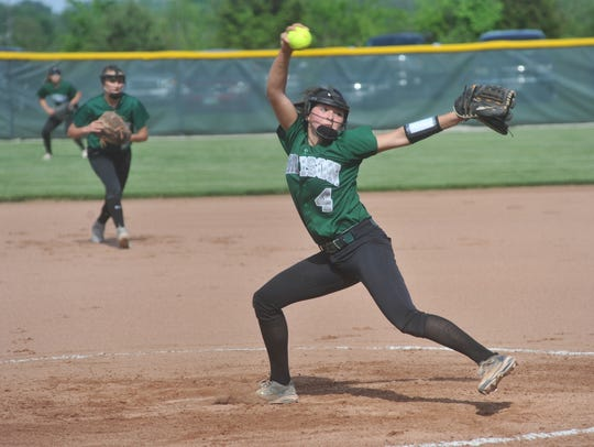 Sloan Kiser pitches in the regional semifinal against