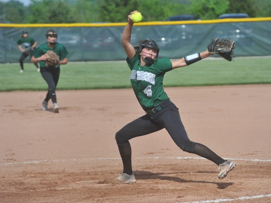 Sloan Kiser pitches in the regional semifinal against Defiance.