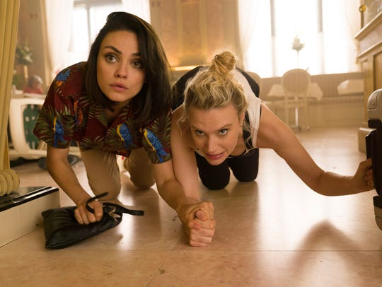"In ""The Spy Who Dumped Me,"" Audrey (Mila Kunis, left)"