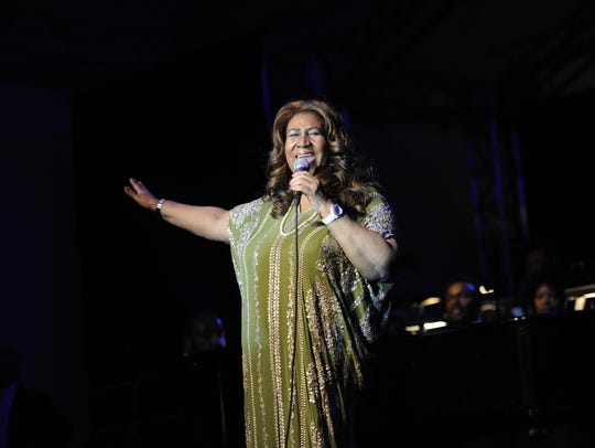 Aretha Franklin performs June 9, 2012, during the Swan