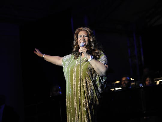 Aretha Franklin performs June 9, 2012, during the Swan Ball at Cheekwood Mansion in Nashville.