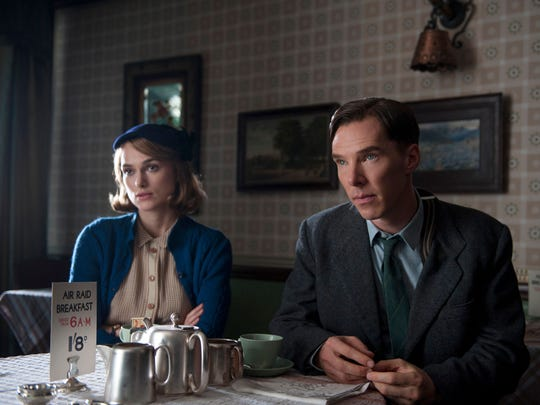 """Keira Knightley and Benedict Cumberbatch in a scene from the motion picture """"The Imitation Game."""""""