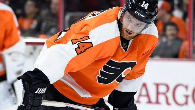 Sean Couturier's 0.6 ponts-per-game average this season is the best in his career so far.