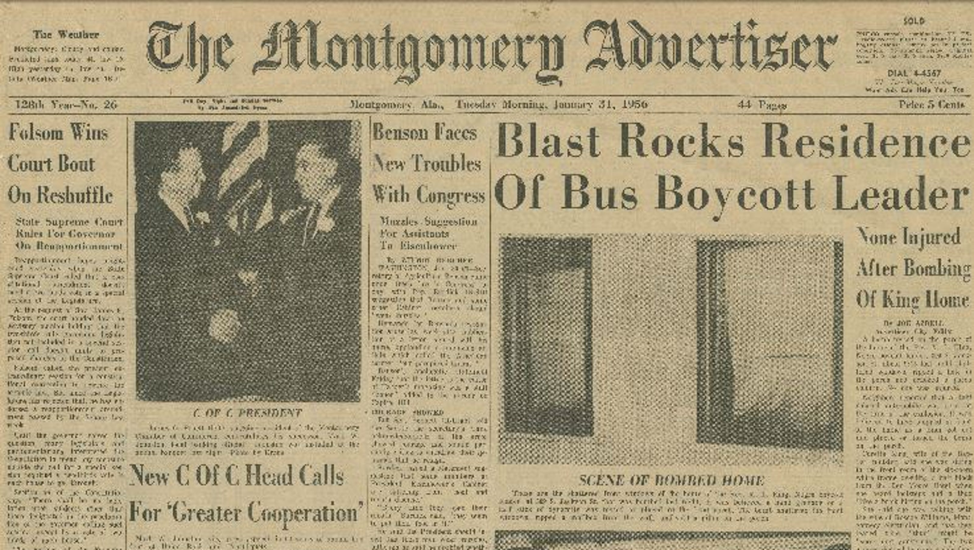On This Day Martin Luther King Jr S Montgomery House Bombed