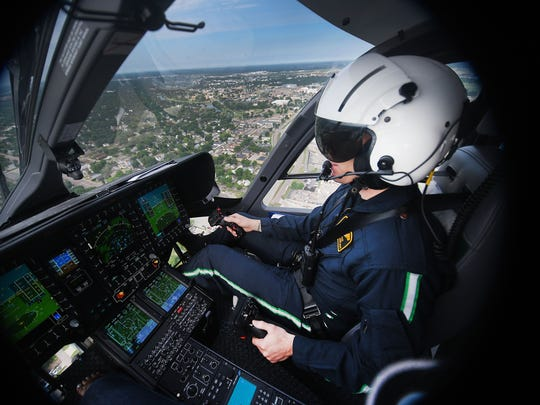 Avera pilot Sean Ihnen takes the new Airbus H145 helicopter