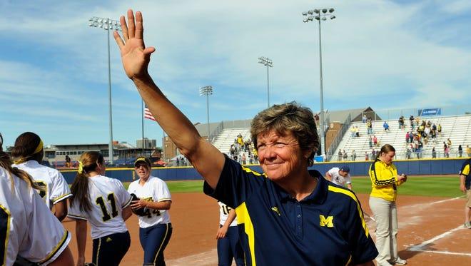 Michigan softball coach Carol Hutchins