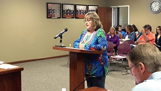 Food Services Director Debbie Braunagel proposes a 10-cent increase for meals for students in kindergarten through seventh grade.