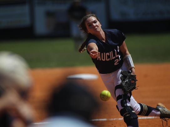 Aucilla Christian junior pitcher Elizabeth Hightower