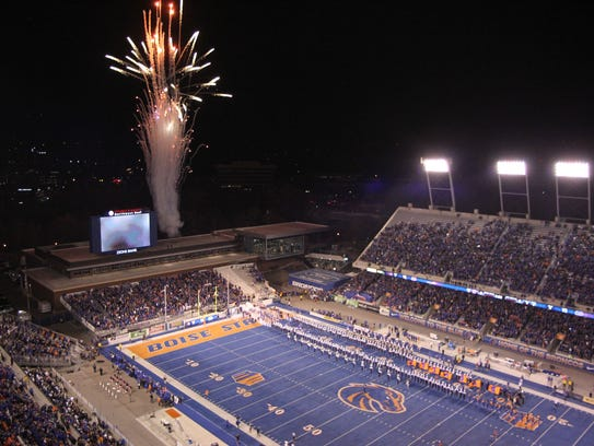 Albertsons Stadium in Boise, Idaho, home to Boise State