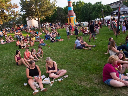 Lansing's downtown riverfront area will see new development through help of a $1 million match by the Capital Region Community Foundation to private donors. This is area sees the most action during the annual Common Ground Music Festival.