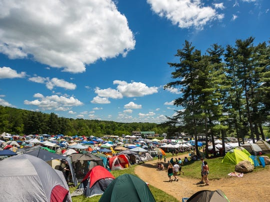 A view of Legend Valley during a previous Dark Star Jubilee. Camping is included in the price of a ticket.