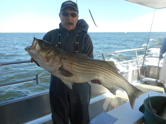 Stripers arrive in force in raritan bay for Atlantic highlands fishing report