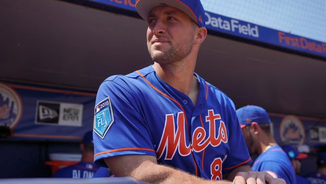 Tebow is entering his second full season as a professional baseball player.