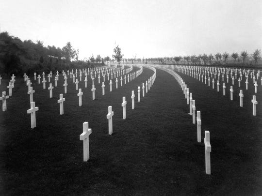 Aisne-Marne American Cemetery, Belleau, France.  View