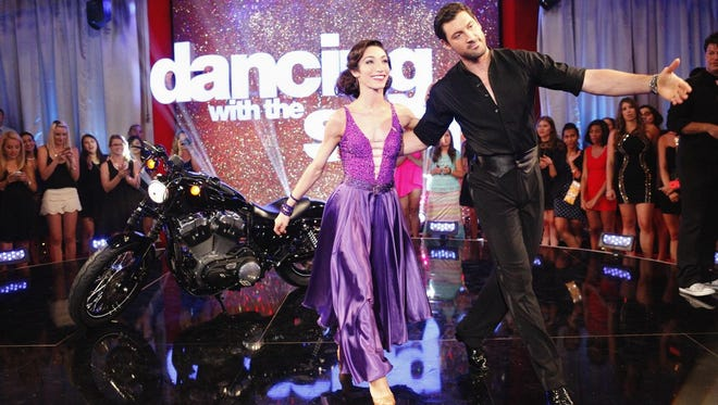 "Maks Chmerkovskiy and Meryl David on ""Dancing With the Stars."""