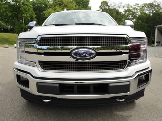 The grille of the F-150 King Ranch series.
