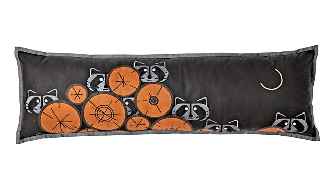Land of Nod Charley Harper raccoon throw pillow ($49)