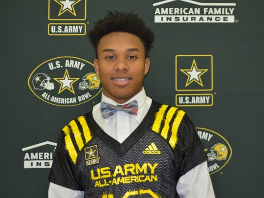 Trinity's Rondale Moore received his jersey for the