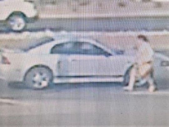 El Paso police are trying to identify woman in a gym thefts investigation seen getting into a car.