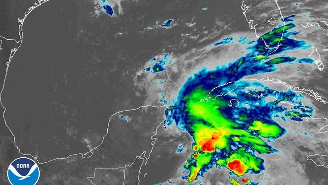 Subtropical Storm Alberto 11 a.m. May 25, 2018.