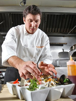 Chef Constantine Kalandranis prepares a seasonal selection of mezze at 8 North Broadway in Nyack.