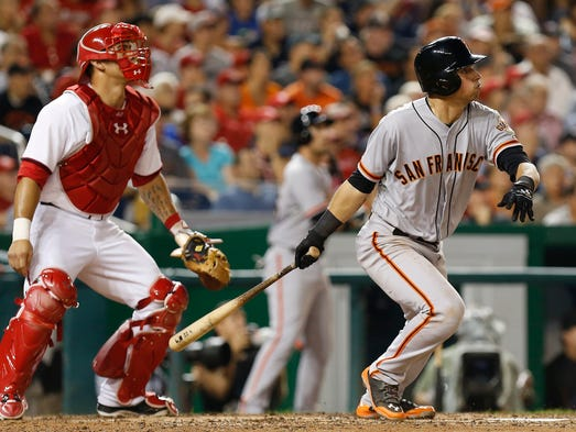 Hopewell Junction's Joe Panik had his first four-hit game in the Majors on Aug. 22, including his first career home run, a three-run blast, in the San Francisco Giants' 10-3 victory over the host Washington Nationals. The rookie raised his average to .316 with the 4-for-5 night.