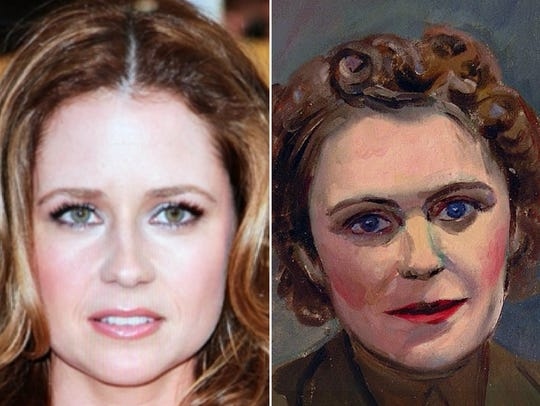"""Jenna Fischer matched with """"Pvt. Abigaile Halley."""""""