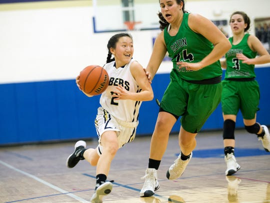 Susquehanna Valley guard Holly Manchester drives toward