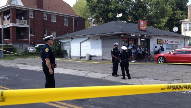 The scene of a double shooting in Avondale Tuesday afternoon.