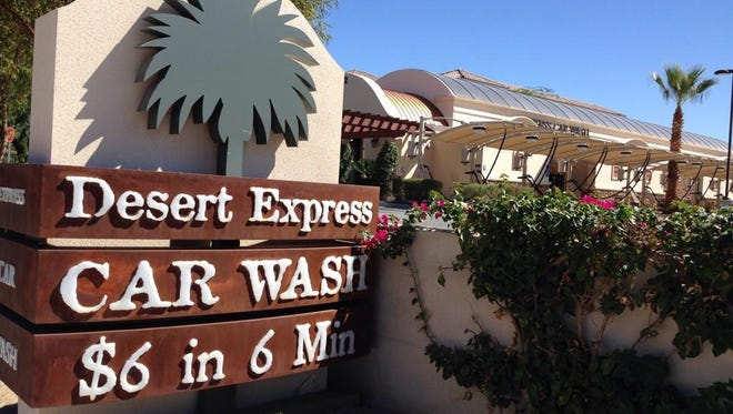 The manager of Desert Express Car Wash had to be rescued Thursday after she got her leg stuck in the machinery.
