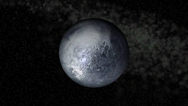 Handout art of the planet Pluto.  Credit: ThinkQuest.