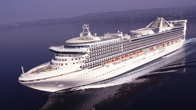 Princess Cruises' 2,600-passenger Golden Princess at sea.