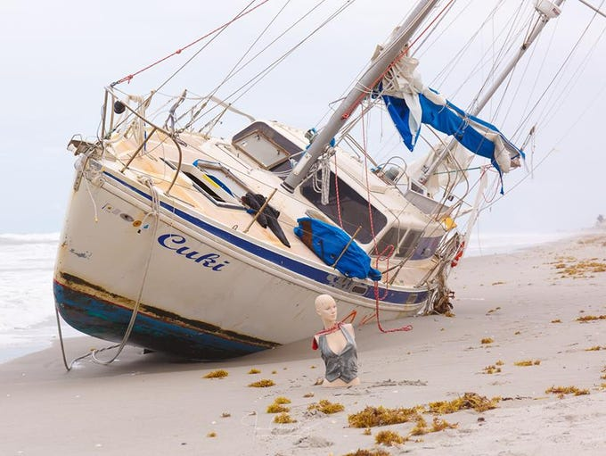 "The ""Cuki"" sailboat mysteriously washed ashore near"