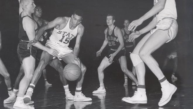Julius McCoy averaged 27.2 points and 10 rebounds in 1955-56.
