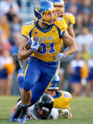 Zach Zenner has run for more yards than all but three players in FCS history. His success is as much a credit to his disciplined approach as his athletic ability. Zenner has topped the 100-yard mark 30 times, scored a MVFC-best 62 touchdowns and sits 1,300 yards ahead of the next-best rusher in MVFC history.