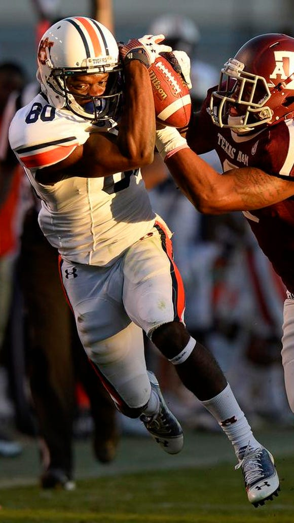 Marcus Davis is the likely starter at the slot receiver position for Auburn.