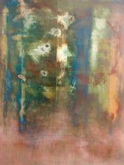 "Ethan Rickrode: ""Moon World II,"" an acrylic work"