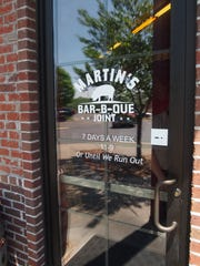 Front door of Martin's Bar-B-Que Joint.