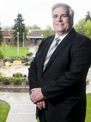University of Great Falls' incoming president Anthony Aretz was photographed in the student center Monday. Aretz has more than 30 years of academic experience and will assume office in July.