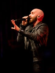 "Sam Harris, of the X Ambassadors, performs Saturday night at the State Theatre in Ithaca, at the sixth annual ""Benefit My State"" show."