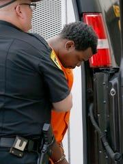 Akeem Williams, of Elmira, walks into Elmira City Court
