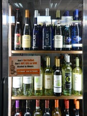 A selection of chilled wine at Lynnwood Wine & Spirits.