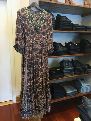 Long sleeve maxis and peasant dresses with bold prints, like this Plenty by Tracy Reese maxi ($228), will become your fall staple. Available at Boutique Bella.