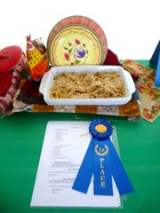 Elijah Roth, 14, of Lebanon, took first place in the kids cook division with his chicken alfredo.