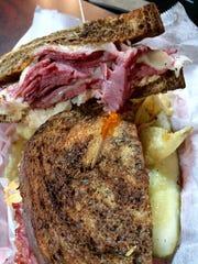Reuben sandwiches are popular among Grubhub customers in Nashville.