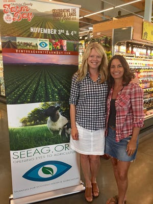 From left, Mary Maranville, CEO of Students for Eco-Education and Agriculture, and Courtney Catalano, SEEAG board member, are shown at the Whole Foods in Oxnard. Whole Foods donated $11,776 to the agriculture education group.