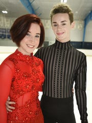 Tish Marsh and Elliot Verburg began skating as a duo in June. They are being coached by world-renowned Marina Zoueva.