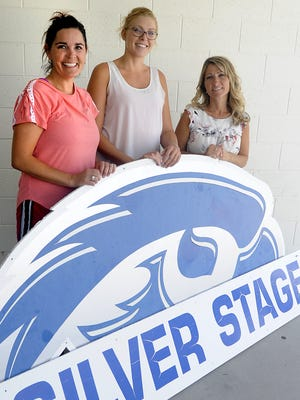 Silver Stage Middle School Principal Amber Taylor (left), Assistant Principal Rachel Kuhn and Silver Stage Elementary School Mindi Hammill.