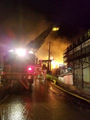 More than two dozen fire departments and emergency personnel would eventually respond to a massive fire at Weaber's Saw Mill, 1231 Mount Wilson Road, in South Annville Township, that began just before midnight, Saturday, August 19.
