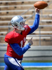 MTSU quarterback Brent Stockstill passes during Saturday's